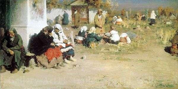Радоница (Перед обедней)   Абрам Архипов