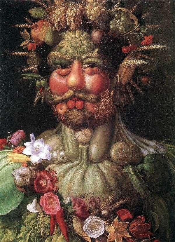 Портрет императора Рудольфа II   Джузеппе Арчимбольди