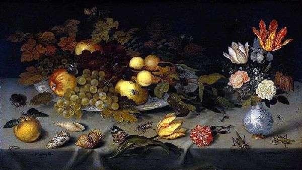 Цветы и фрукты   Балтазар ван дер Аст