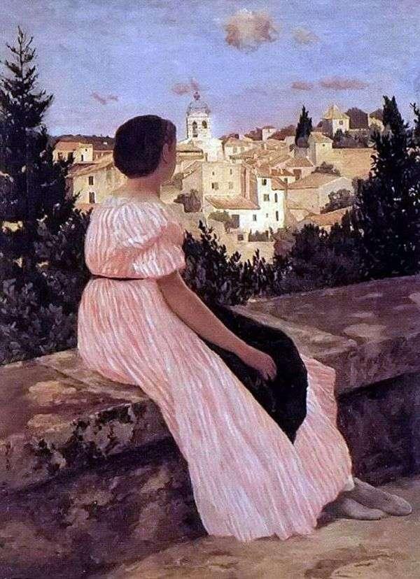 Розовое платье   Фредерик Базиль