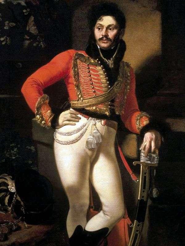 Портрет гусара Давыдова   Орест Кипренский