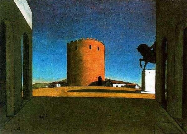 Красная башня   Джорджо де Кирико