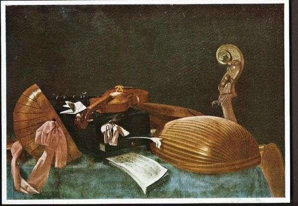 Натюрморт с музыкальными инструментами   Эваристо Баскенис