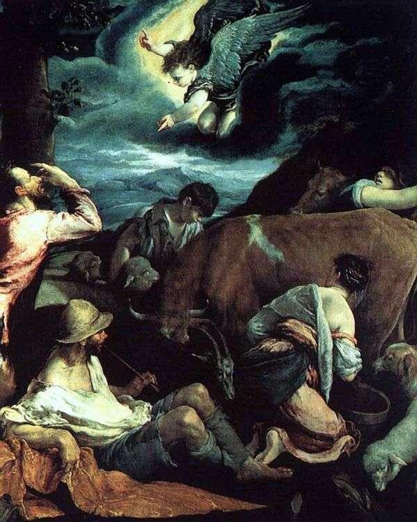 Благовещение пастухам   Якопо Бассано