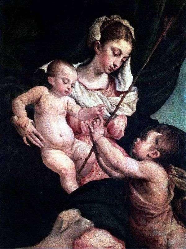 Мадонна с младенцем и Иоанном Крестителем   Якопо Бассано