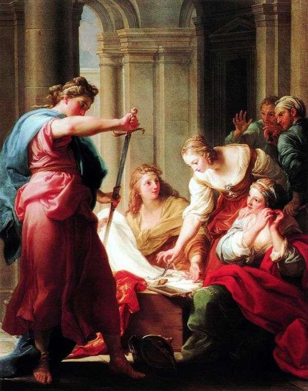 Ахилл у дочерей царя Ликомеда   Помпео Батони