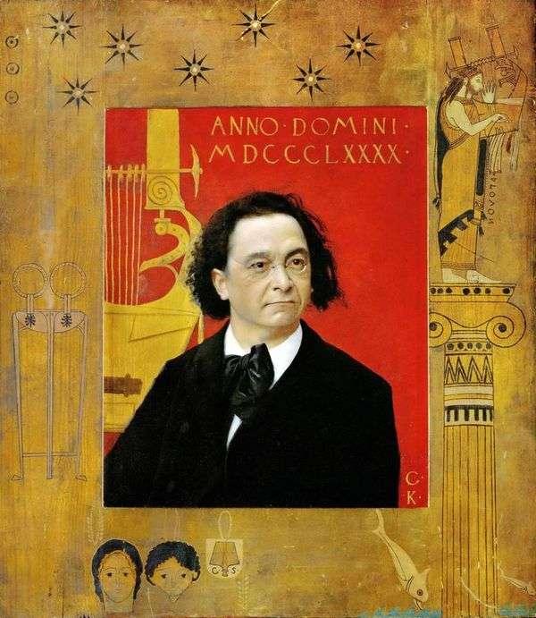 Портрет Иозефа Пембауэра, пианиста и учителя музыки   Густав Климт