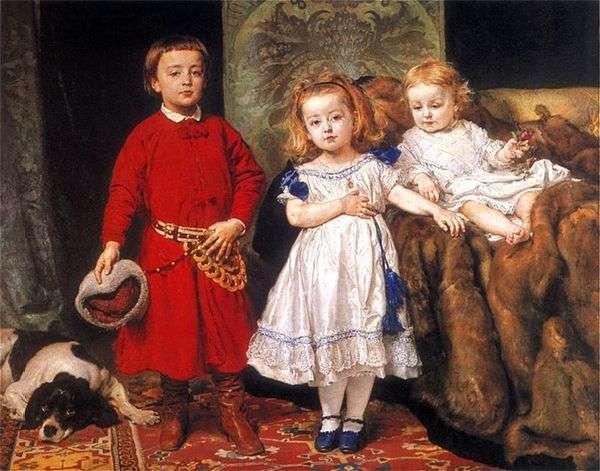 Портрет троих детей художника   Ян Алоизий Матейко