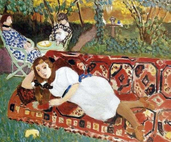 Молодые женщины в саду   Анри Матисс