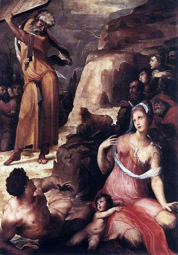 Моисей и золотой телец   Доменико Бекафьюми
