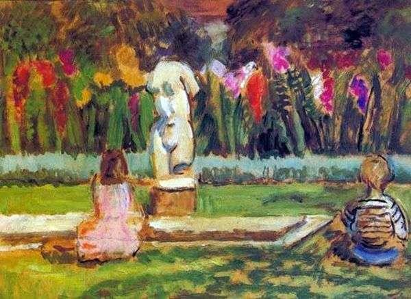 Генриетта и Джулиан у садового пруда в Чарльстоне   Ванесса Белл