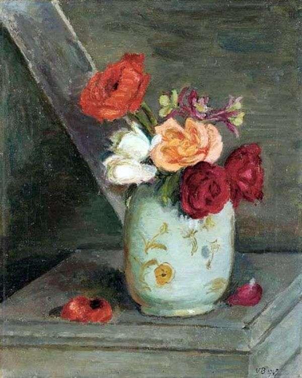 Розы в китайской вазе   Ванесса Белл
