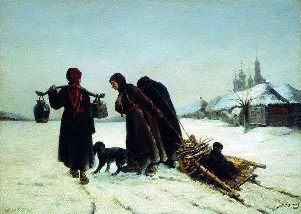 Зимой в деревне   Алексей Корзухин