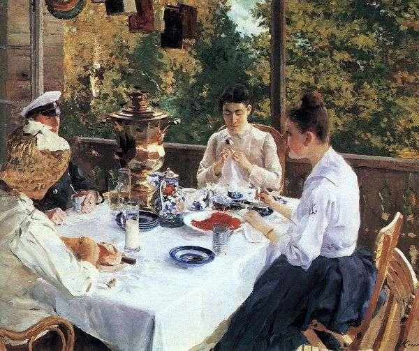 За чайным столом   Константин Коровин