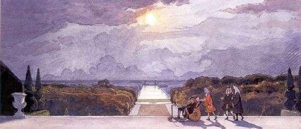 Версаль. Прогулка короля   Александр Бенуа