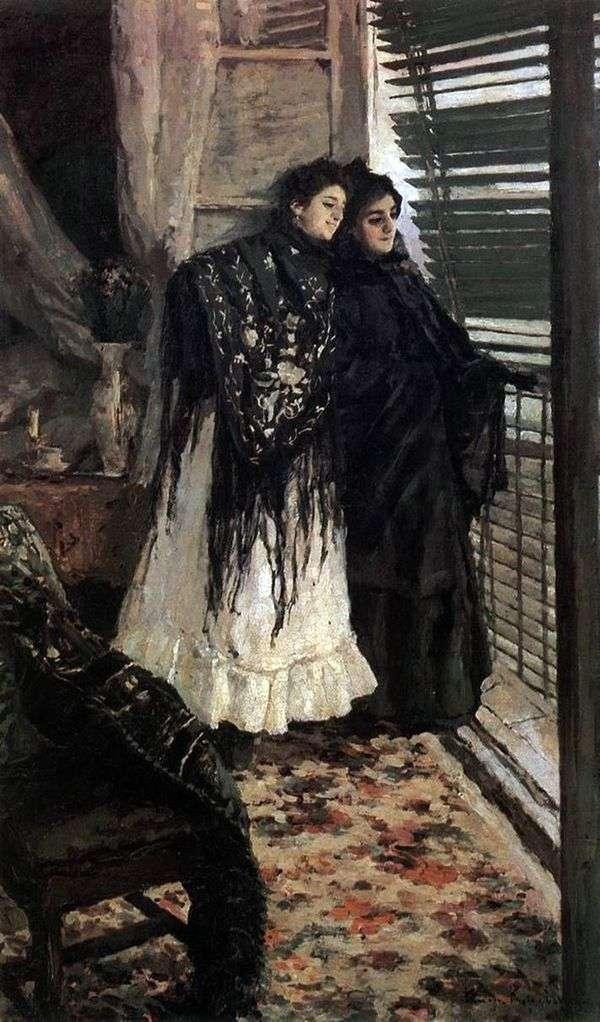 У балкона. Испанки Леонора и Ампара   Константин Коровин
