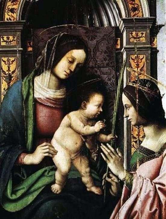Обручение святой Екатерины Александрийской   Джованни Баттиста Бертуччи