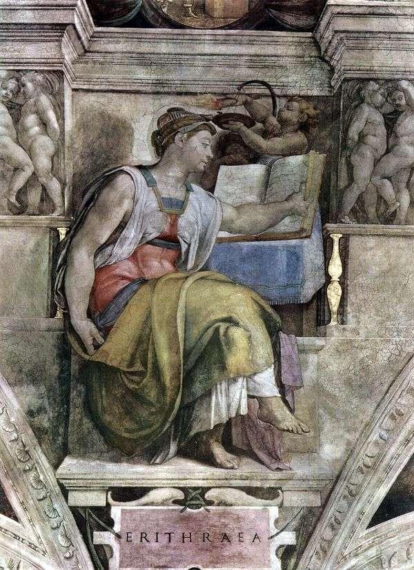 Эритрейская сивилла (фреска)   Микеланджело Буонарроти