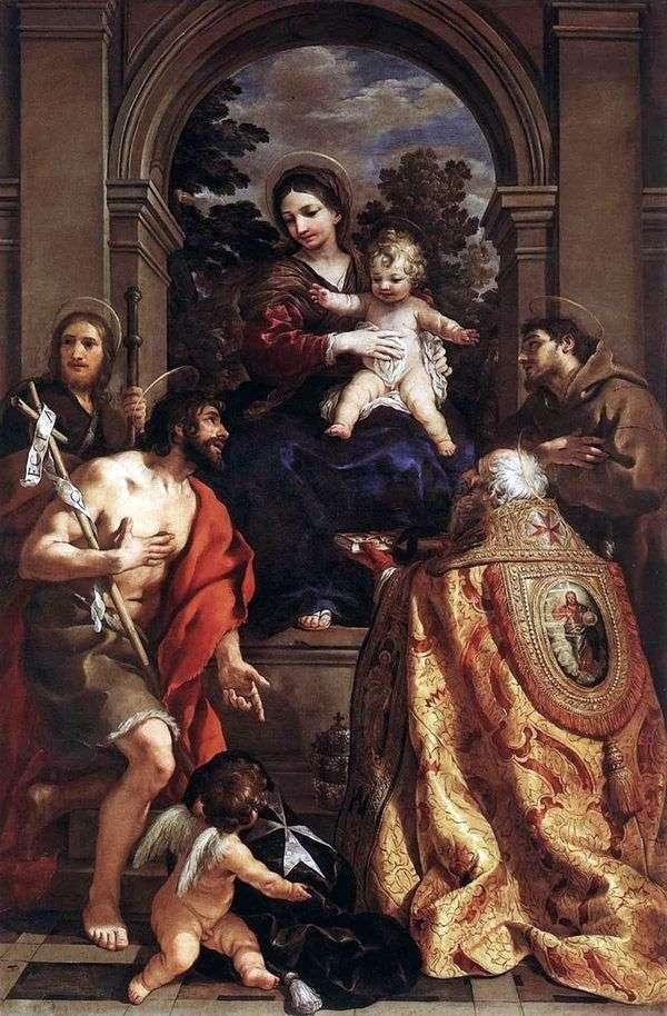Мадонна со святыми   Пьетро да Кортона