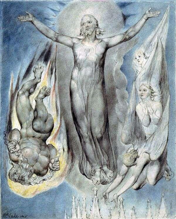 Вознесшийся Христос   Уильям Блейк