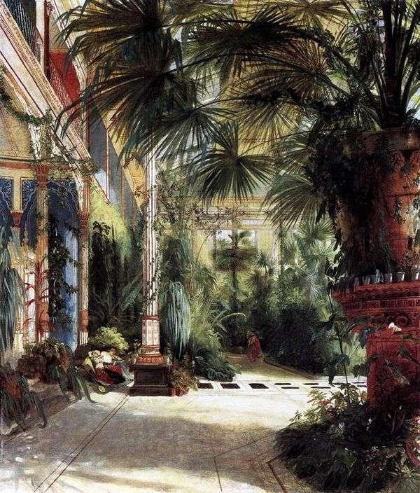 Пальмовый двор Фридриха Вильгельма   Карл Эдуард Фердинанд Блехен