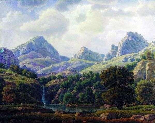 Горный пейзаж   Константин Богаевский