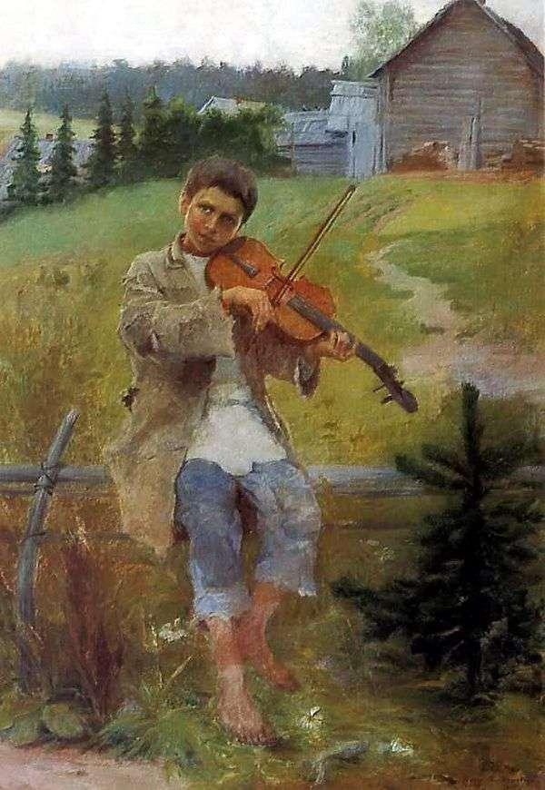 Мальчик со скрипкой   Николай Петрович Богданов Бельский
