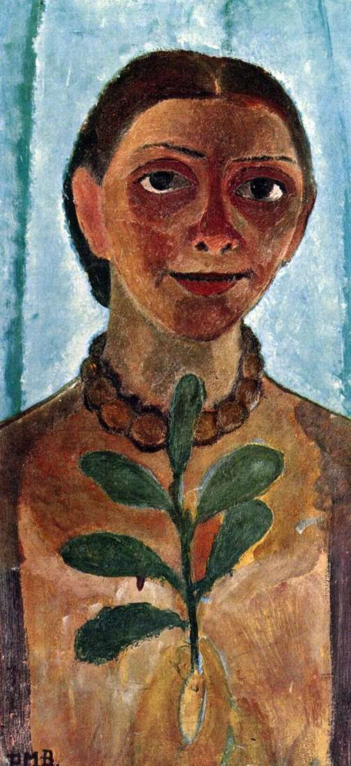 Автопортрет с камелиям   Паула Модерзон Беккер