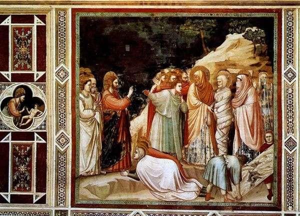 Воскрешение Лазаря   Джотто ди Бондоне