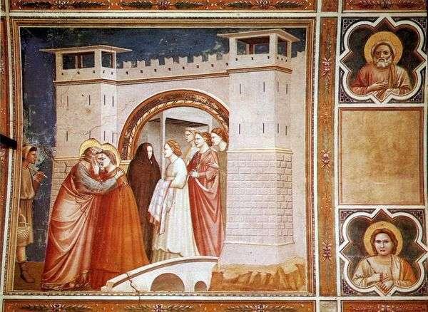 Встреча Анны с Иоакимом у Золотых ворот   Джотто ди Бондоне