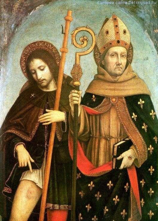 Святой Рох и святой Людовик Тулузский   Амброджо Боргоньоне