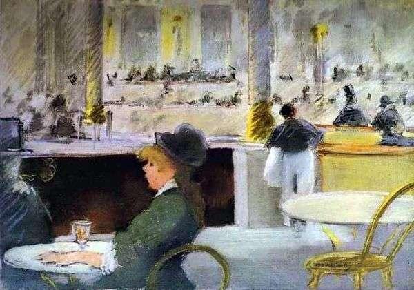 Интерьер кафе   Эдуард Мане