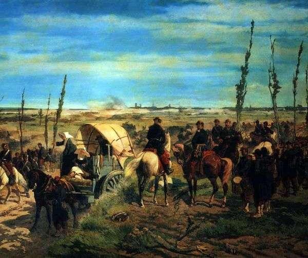 Итальянский лагерь в битве при Мадженте   Джованни Фаттори