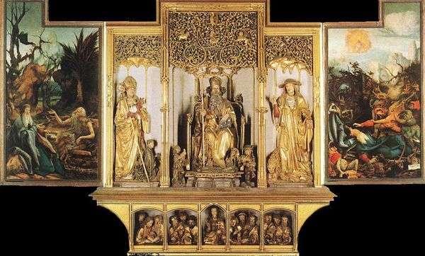 Изенгеймский алтарь скульптурная композиция   Маттиас Грюневальд