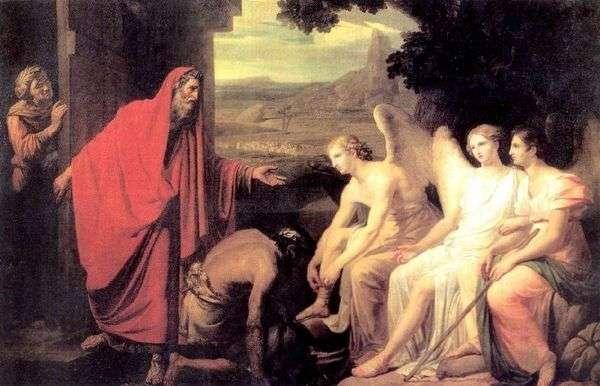 Явление Аврааму трех ангелов у дуба Мамврийского   Карл Брюллов