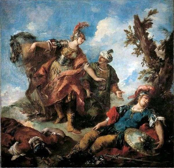 Эрминия и Вафрин находят раненого Танкреда   Джованни Антонио Гварди