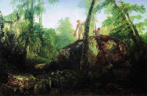 Камень в лесу у разлива   Алексей Саврасов