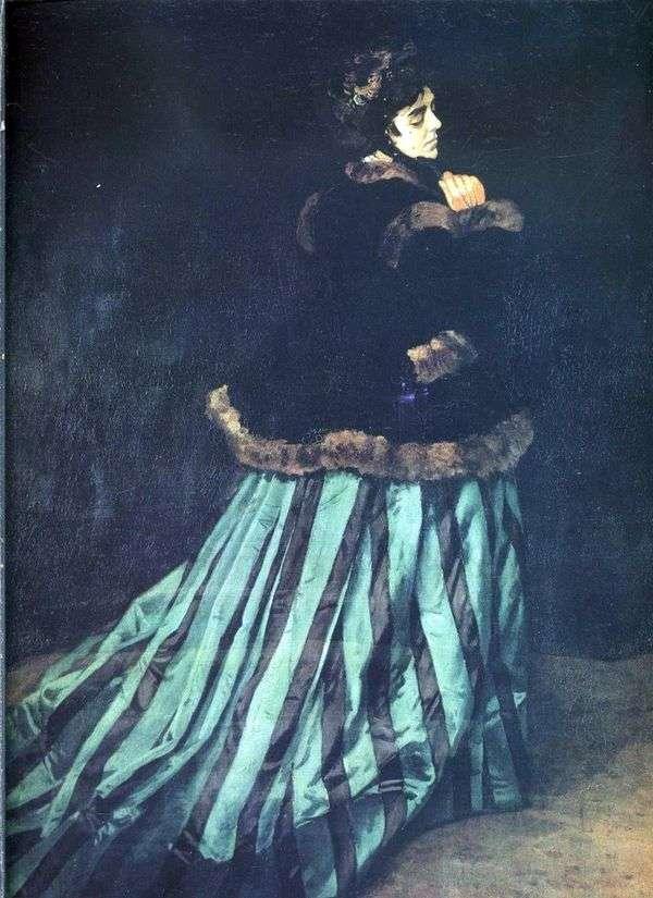 Камилла (Женщина в зеленом платье)   Клод Моне