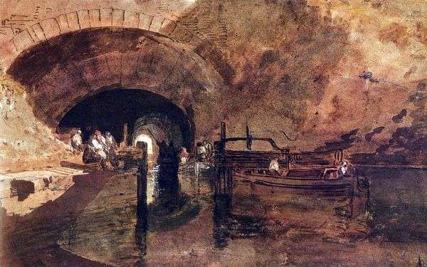 Канал в туннеле рядом с Лидсом   Уильям Тернер