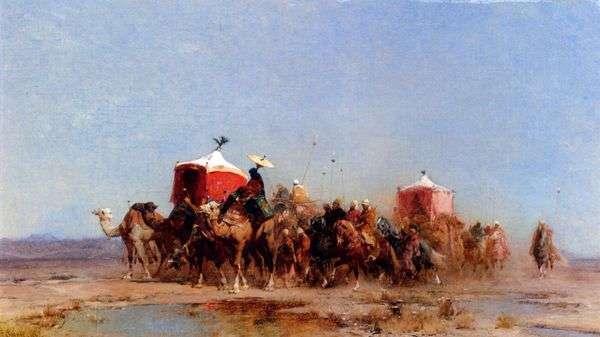 Караван в пустыне   Альберто Пасини