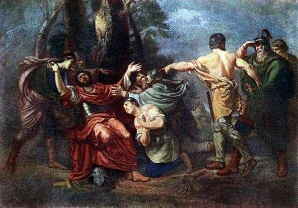 Князь Димитрий Донской после Куликовской битвы   Орест Кипренский