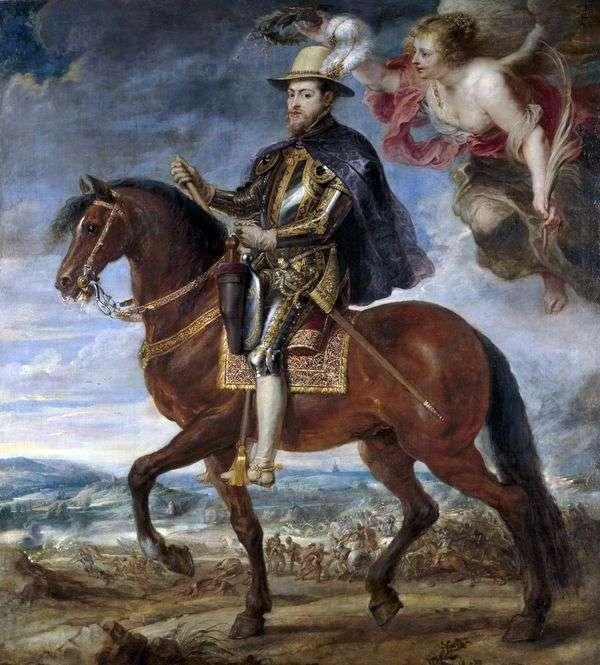 Конный портрет Филиппа II   Питер Рубенс