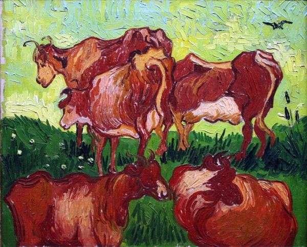 Коровы (после Йорданса)   Винсент Ван Гог