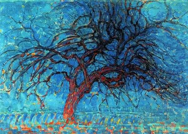 Красное дерево   Питер Корнелис Мондриан