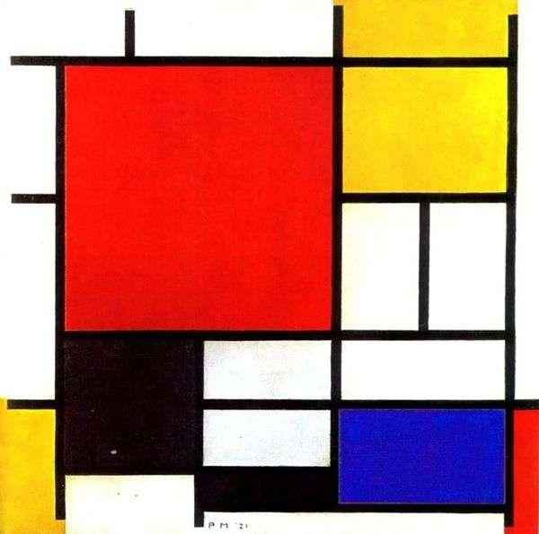 Красный, желтый, синий и черный   Питер Корнелис Мондриан