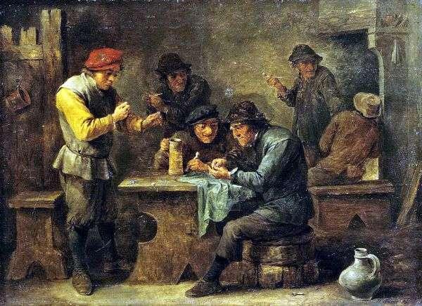 Крестьяне играющие в кости   Давид Тенирс