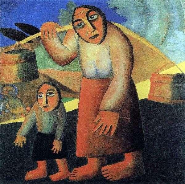 Крестьянка с ведрами   Казимир Малевич