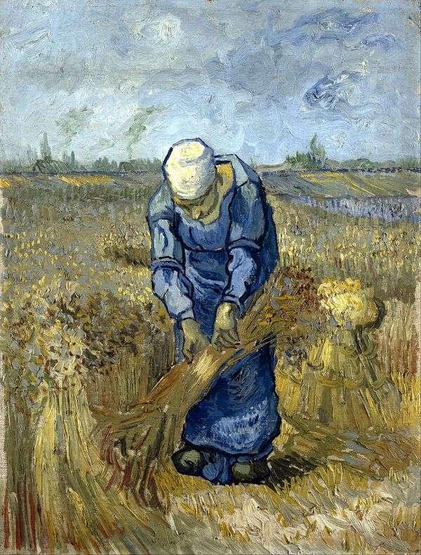 Крестьянка вяжет снопы (по Милле)   Винсент Ван Гог