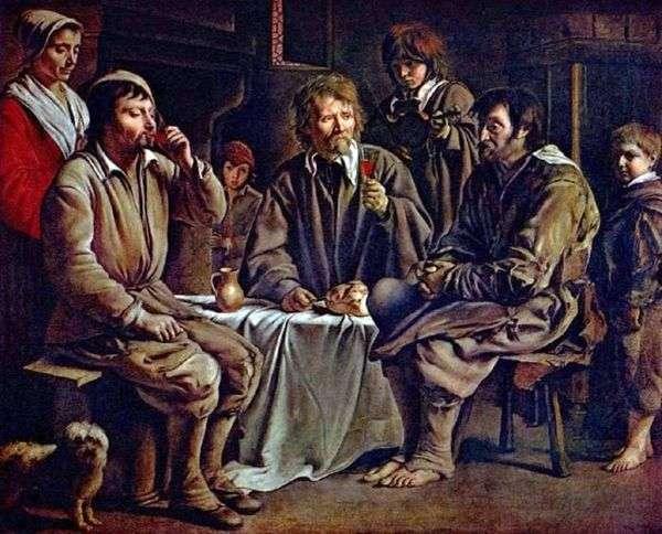 Крестьянская трапеза   Луи Ленен
