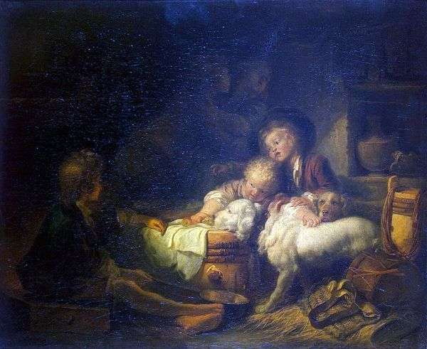 Крестьянские дети   Жан Оноре Фрагонар